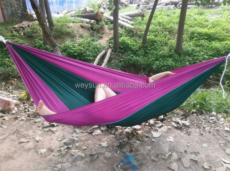 parachute cloth double hammock camping hammock outdoor or indoor