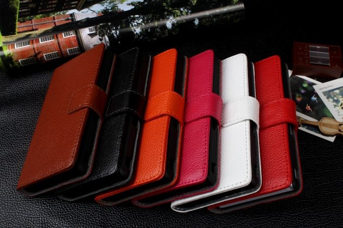 Luxury Genuine Leather Stand Wallet Cover Case for Sony Xperia Z L36h L36i C6603