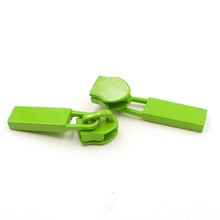 painted green color zipper slider metal pull for blazer