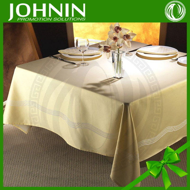 Various sizes customized elegant fabric cheap wedding tablecloth