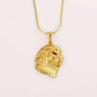 2016 Xuping gold jewelry animal head shaped pendant
