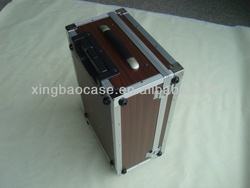 Best hard case luggage with polyester and pocket inner,bubble luggage bag,wooden leather panel trolley luggage case