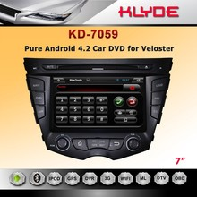 7'' HD Screen Car DVD Player with Reverse Camera for veloster