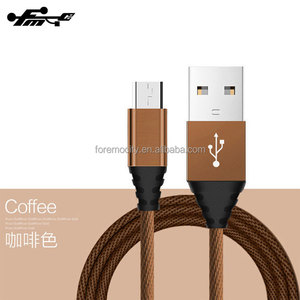 High Quality bulk Micro 2A usb charging cable braided