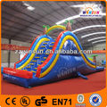 Custom pvc inflatable bouncy castle, middle size slides