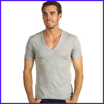 men 39 s deep v neck t shirt wholesale scoop neck t shirt for