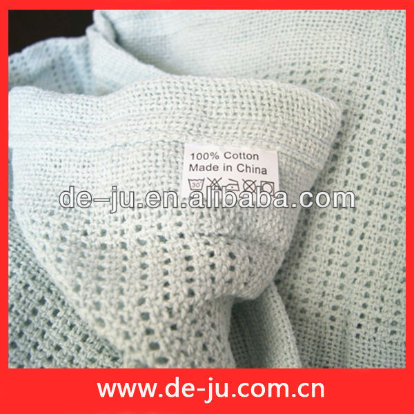 Light Blue Light Baby Weave Cotton Blanket