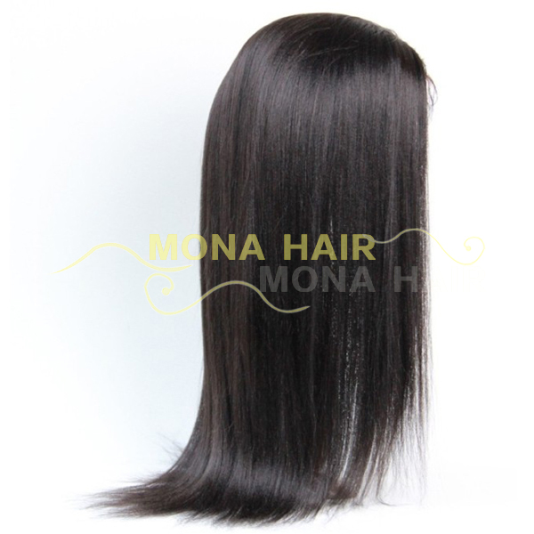 silky straight wave full thin skin cap human hair lace wigs