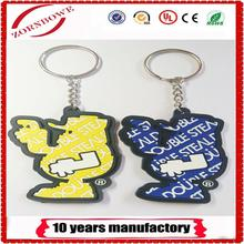 2018 new arrivals soft pvc key chain, rubber keychain