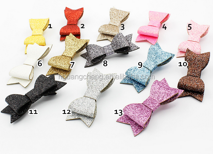 Fashion 3.1 inches Chiffon Ribbon Bow Handmade Hair Clips