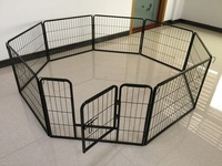 China manufactuer cheap price exercise playpen for dogs with high panel and gate