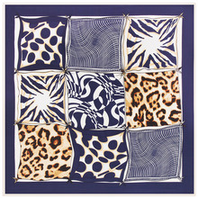 2017 Chinese New fashion High quality factory direct custom digital printed cheap twill silk scarf leopard satin square scarf