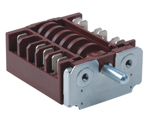16A 250V oven 6 versions available differentiated by maximum contacts Rotary switches