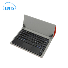 Hot Selling bluetooth keyboard with leather case for 8 inch tablet PC
