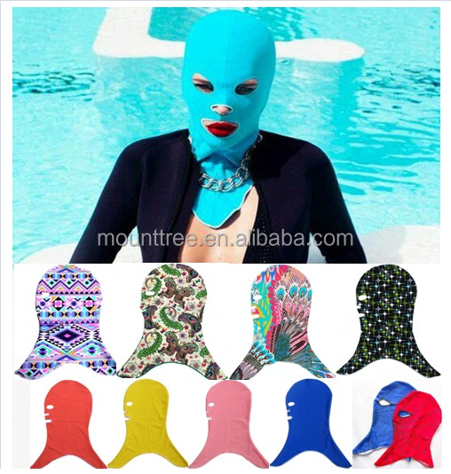 2015 the newest design hot sex anti UV head face bikini with multiple designs