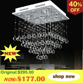 Rectangle chandelier Crystal hanging lamp modern pendant lighting for dinning room Model : 1670