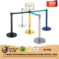stainless steel queue pole/queue system for bank /airport/hotel lobby(H-130)