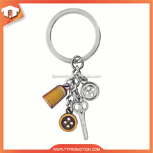Promotional customized metal hockey keychain for wholesale