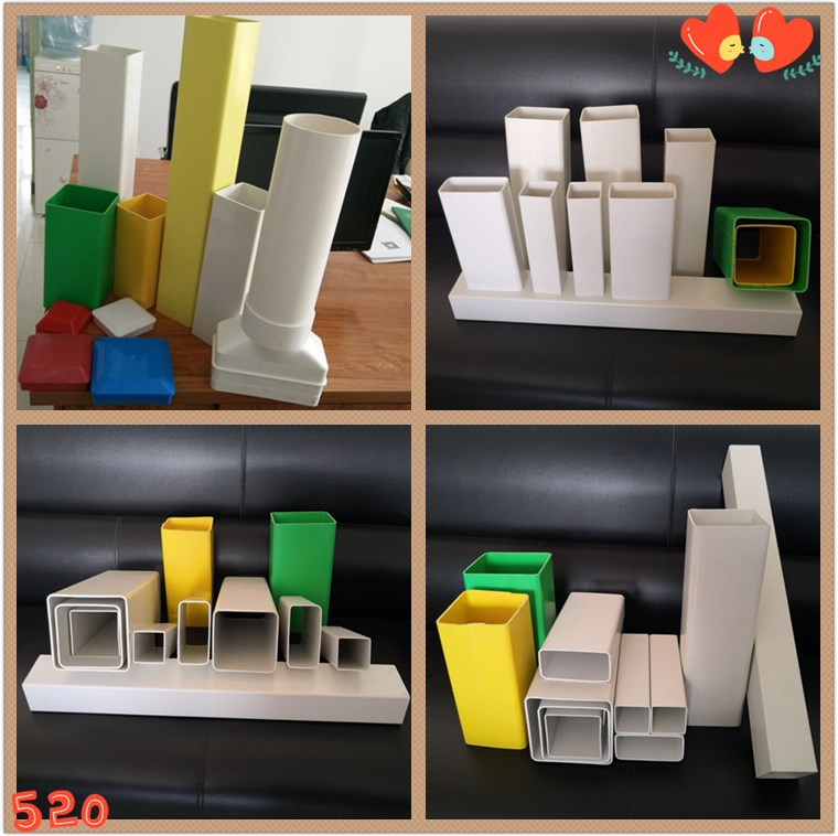 Wholesale PVC plastic square rectangular pipes and fittings for hydroponic