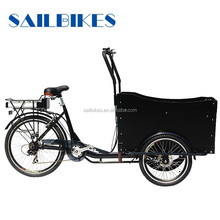 chinese top exported electric front loading cargo tricycle with pedals