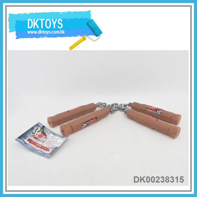Wooden material Nun Chucks weapons toy for kids