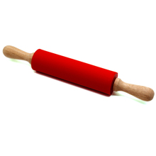 Stainless steel Handle Silicone cookie Rolling Pin for Pie Crust Fondant Pizza Cookie & Pastry Dough