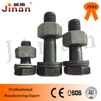 "10.9S 7/8""-10 * 2"" High Strength Hex Bolt for Steel Structural bridge building"