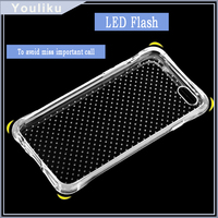 Hot new products for 2016 Clear Shockproof TPU case for Iphone 6 for samsung galaxy j7 / s7,Led flash mobile phone case cover