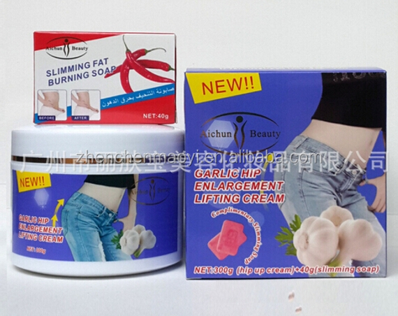 Aichun beauty 300g garlic hip enlargement lifting up cream + 40g slimming fat buring soap