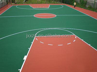 Non-slip PVC Rubber Gym Flooring For Basketball Court