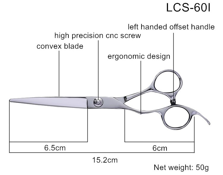 Left Handed Barber Scissors,Professional Long Straight Barber Scissors