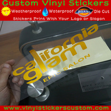 Logo Customized Colors Vinyl Die Cut Stickers, Reflective Transfer Stickers
