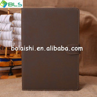 PU luxury waterproof wallet leather book case for ipad mini 2