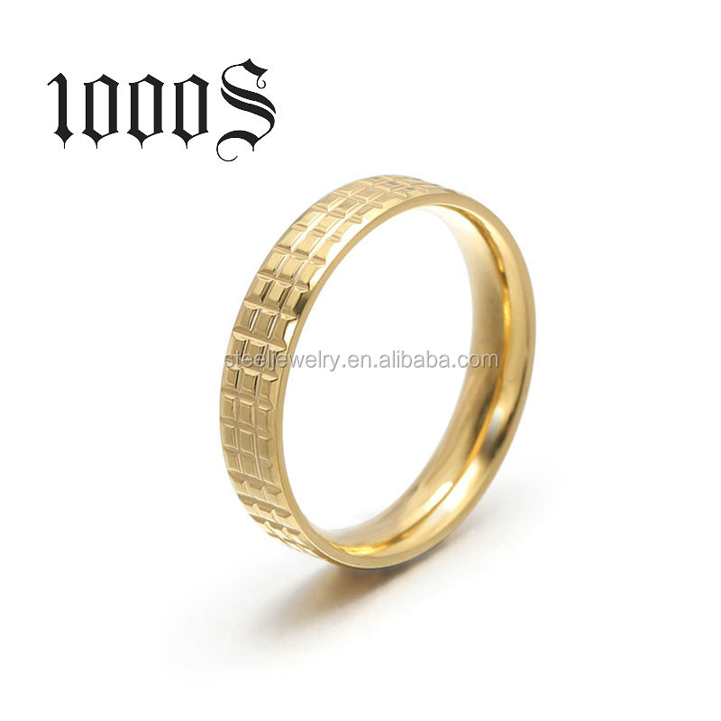 18k Gold Ring Classical Men Ring Anniversary Wedding Band Jewelry Ring