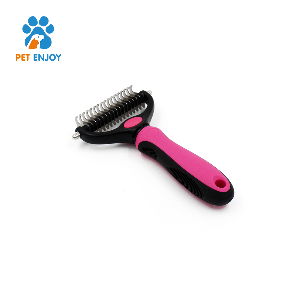 Pet Dog & Cat Hair Fur Shedding Trimmer Grooming Rake Comb Brush for pets