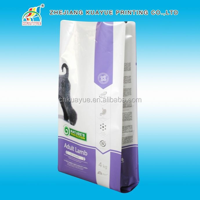 Side Gusset Flat Bottom Pet Food Bag,15 Kg Dog Food Plastic Bag,1Kg 2Kg 5Kg 10Kg 20Kg Dog Food Packaging Bag /Dog Food Bag