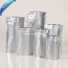 silver ziplock stand up foil plastic <strong>bag</strong> for foods food packaging