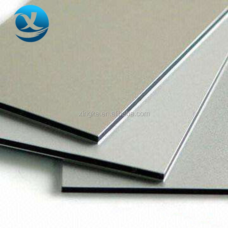 exterior brushed aluminum house decoration material aluminum composite sheet panel for wall cladding decoration