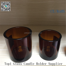 glass candle holder made in china factory supplier for weddings for bars