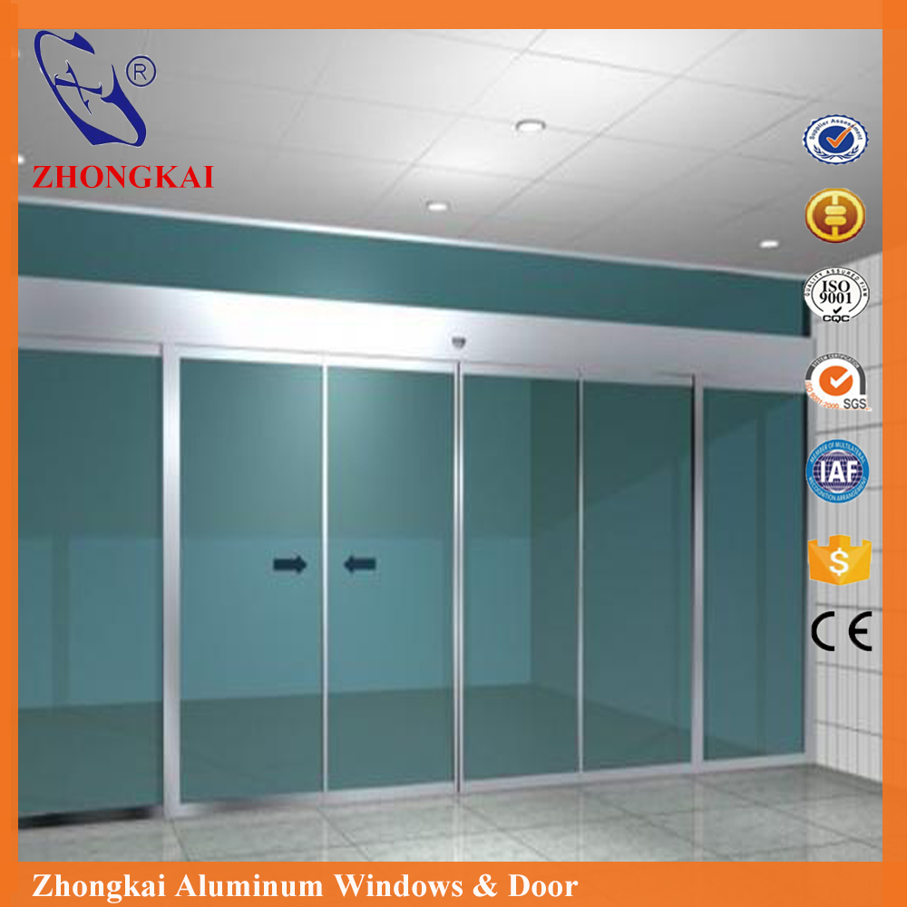 HD019 new technology dual motor automatic glass sliding <strong>door</strong> for commercial