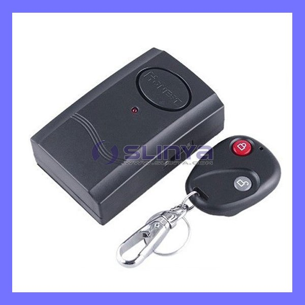 IR Remote Key Control Wireless Door Window Micro Vibration Triggered Alarm