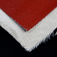 0.4mm Silicone Rubber Impregnation Heat Anti Fabric Fiber Glass