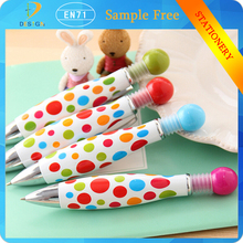 NEW Creative Colorful Dots seies DIY Multifunction candy color Blue Ink bowling ball pen for promotion