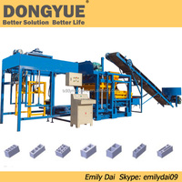 QT4-25 dongyue hollow / solid cement brick manufacturing machine price on sale
