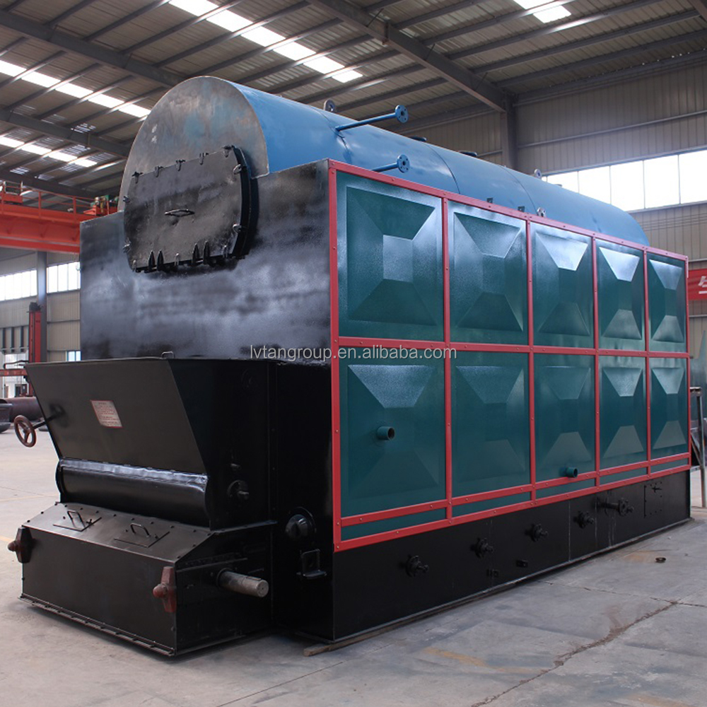 Horizontal High Efficiency Biomass Pellet or Coal Double Chain 12t/h Steam Boiler Factory