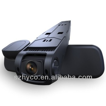 Newest 1080P Hidden car black box install on the car rearview mirror