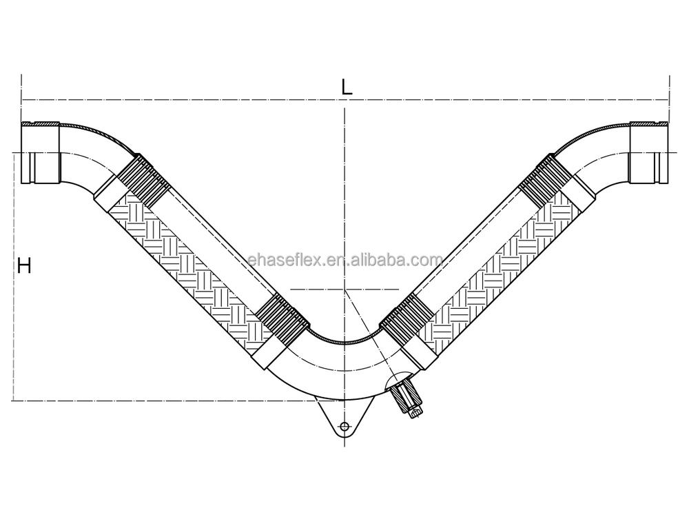 V flex seismic expansion joint view