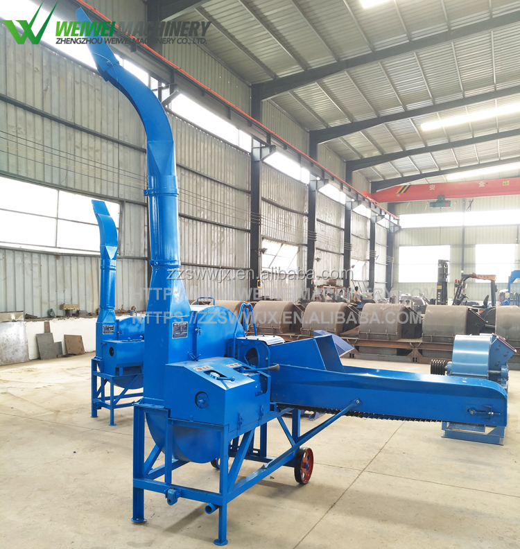 Weiwei feed making shredder machine for cattle grass feed feed machine for sale
