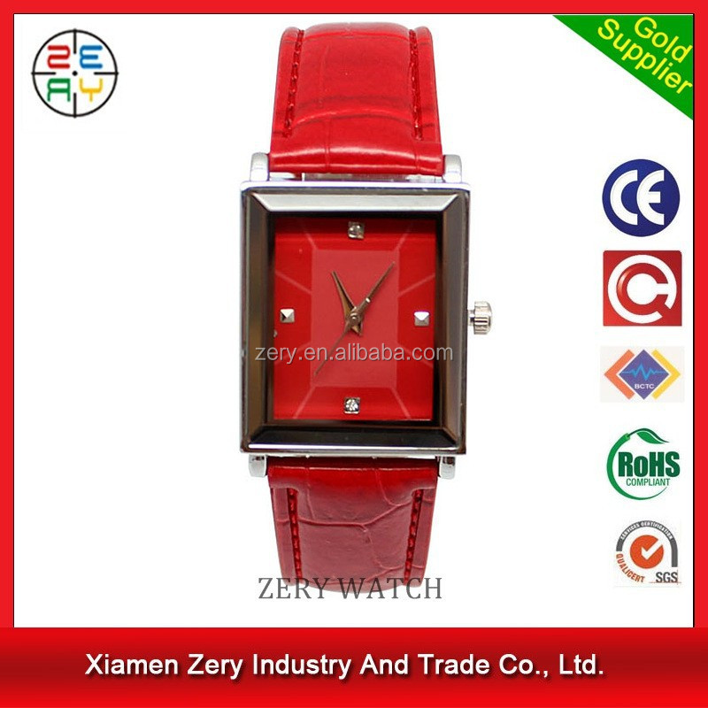 R0169 new trendy leather watch shanghai watch factory