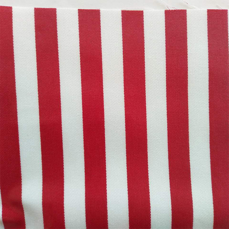 16S*12S twill 100% cotton striped printed pvc coated fabric for apron or tablecloth